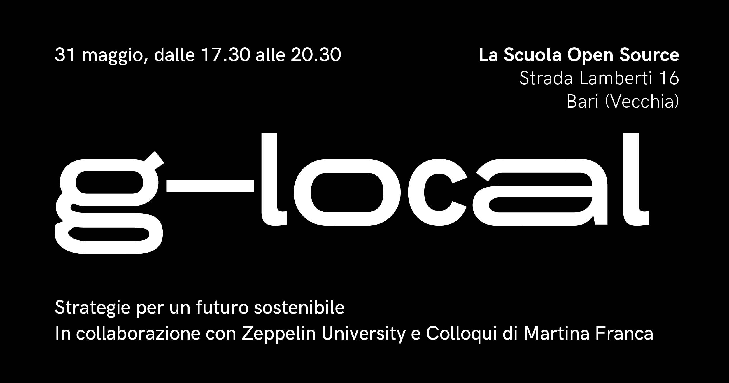 g-local — strategie per un futuro sostenibile